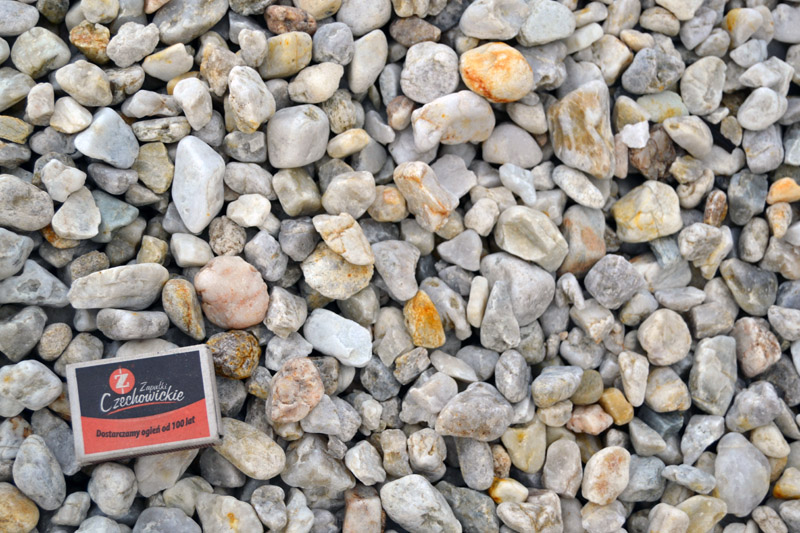 """kamień ozdobny 8-16mm, """"białe jajka"""" drobne"""